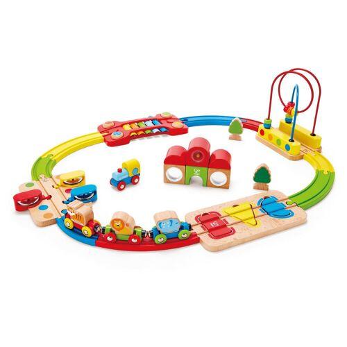 Hape Spielzeug-Eisenbahn Regenbogen-Puzzle Eisenbahnset, aus Holz Einheitsgröße bunt Kinder Holzspielzeug