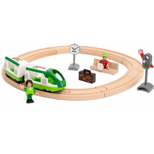 BRIO Spielzeug-Eisenbahn Starter Set Reisezug, FSC - schützt Wald weltweit Einheitsgröße bunt Kinder Kindereisenbahnen Autos, Eisenbahn Modellbau