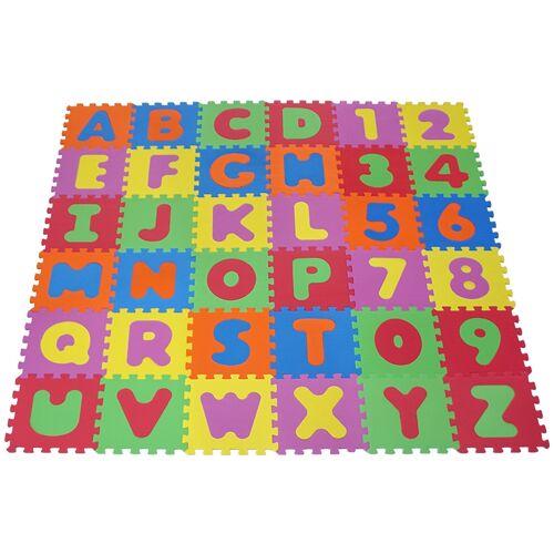 Knorrtoys Puzzle Alphabet und Zahlen, Puzzlematte, Bodenpuzzle Einheitsgröße bunt Kinder Ab Geburt Altersempfehlung