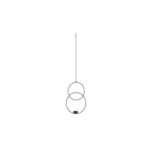 Teelichthalter ¦ schwarz ¦ Metall ¦ Maße (cm): B: 20 H: 31 T: 4,2 Dekoration > Kerzen & Lichter > Kerzenständer - Möbel Kraft
