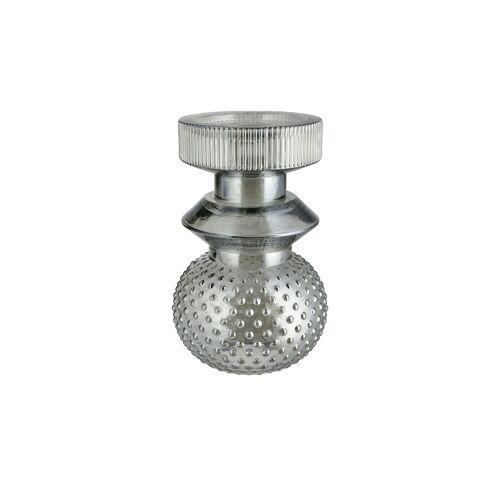 Kerzenständer ¦ grau ¦ Glas  ¦ Maße (cm): H: 19  Ø: [12.0] Dekoration > Kerzen & Lichter > Kerzenständer - Möbel Kraft