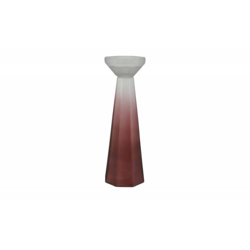 Kerzenständer ¦ rot ¦ Glas  ¦ Maße (cm): H: 33  Ø: [11.0] Dekoration > Kerzen & Lichter > Kerzenständer - Möbel Kraft