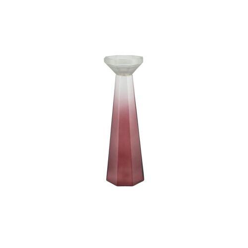 Kerzenständer ¦ rot ¦ Glas  ¦ Maße (cm): H: 43  Ø: [14.0] Dekoration > Kerzen & Lichter > Kerzenständer - Möbel Kraft
