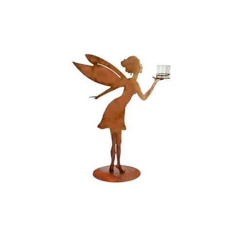 Teelichthalter Elfe ¦ braun ¦ Glas , Metall ¦ Maße (cm): B: 45 H: 60 T: 25 Dekoration > Kerzen & Lichter > Kerzenständer - Möbel Kraft