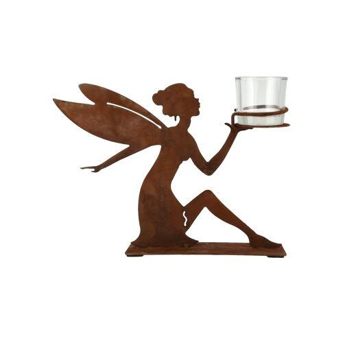 Teelichthalter Elfe ¦ braun ¦ Glas , Metall ¦ Maße (cm): B: 27 H: 21 T: 8 Dekoration > Kerzen & Lichter > Kerzenständer - Möbel Kraft