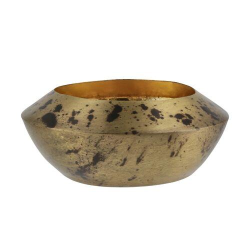 Teelichthalter ¦ gold ¦ Metall ¦ Maße (cm): H: 4,5  Ø: [11.0] Dekoration > Kerzen & Lichter > Kerzenständer - Möbel Kraft