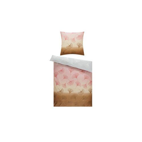 AURO Satin Bettwäsche  Ginko ¦ mehrfarbig ¦ 100% Baumwolle   ¦ Maße (cm): B: 135 Bettwaren > Bettwäsche-Sets > weitere Bettwäschesets - Möbel Kraft