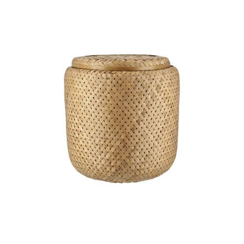 Aufbewahrungskorb mit Deckel ¦ braun ¦ Bambus ¦ Maße (cm): H: 28  Ø: [28.0] Aufbewahrung > Körbe - Möbel Kraft