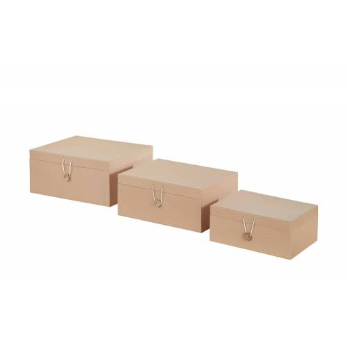 Aufbewahrungsboxen, 3er-Set ¦ beige ¦ Papier ¦ Maße (cm): B: 33,2 H: 14,8 T: 25,2 Aufbewahrung > Aufbewahrungsboxen - Möbel Kraft