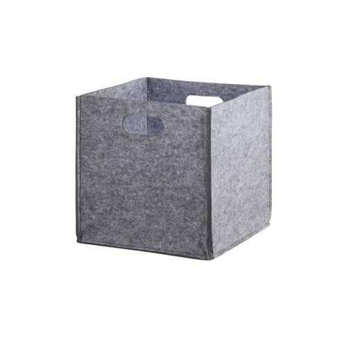 Aufbewahrungskorb ¦ grau ¦ Filz ¦ Maße (cm): B: 30 H: 30 T: 30 Aufbewahrung > Aufbewahrungsboxen - Möbel Kraft