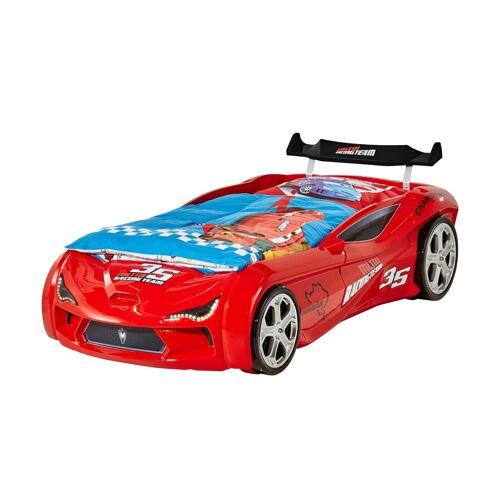 Autobett-Gestell ¦ rot ¦ Maße (cm): B: 124 H: 78 Kindermöbel > Kinderbetten - Möbel Kraft
