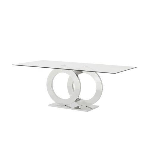 Esstisch ¦ silber ¦ Maße (cm): B: 100 H: 76 Tische > Esstische - Möbel Kraft