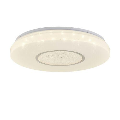 KHG LED-Deckenleuchte, 1-flammig mit Kristalldeko ¦ weiß ¦ Maße (cm): H: 6,5  Ø: [50.0] Lampen & Leuchten > Innenleuchten > Deckenlampen - Möbel Kraft