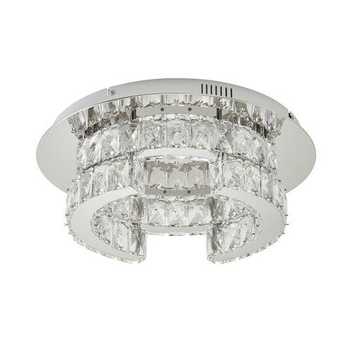 KHG LED-Kristalldeckenleuchte ¦ silber ¦ Maße (cm): H: 15  Ø: [43.0] Lampen & Leuchten > Innenleuchten > Deckenlampen - Möbel Kraft