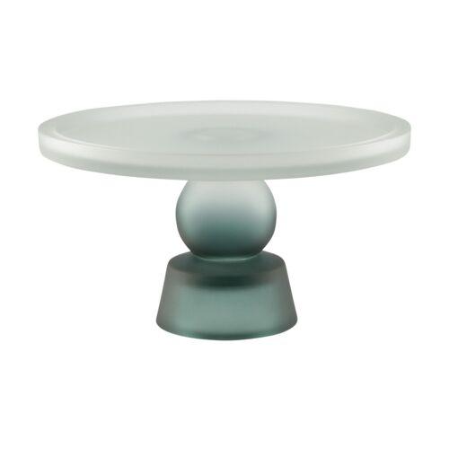 Tortenplatte ¦ blau ¦ Glas  ¦ Maße (cm): H: 13  Ø: [23.0] Geschirr > Einzelgeschirrteile - Möbel Kraft