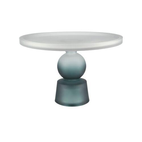 Tortenplatte ¦ blau ¦ Glas  ¦ Maße (cm): H: 18,5  Ø: [28.0] Geschirr > Einzelgeschirrteile - Möbel Kraft
