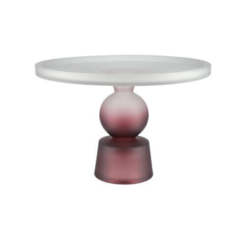 Tortenplatte ¦ rot ¦ Glas  ¦ Maße (cm): H: 18,5  Ø: [28.0] Geschirr > Einzelgeschirrteile - Möbel Kraft
