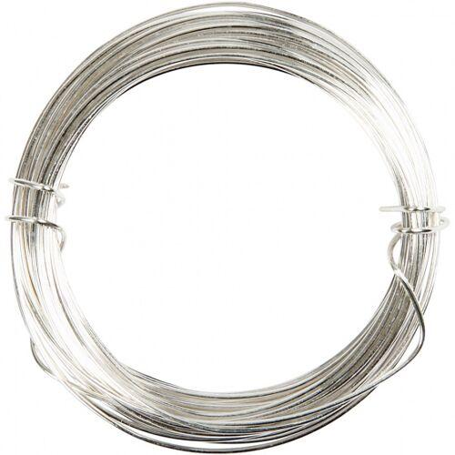 Deco metalldraht 0,6 mm 10 Meter Silber