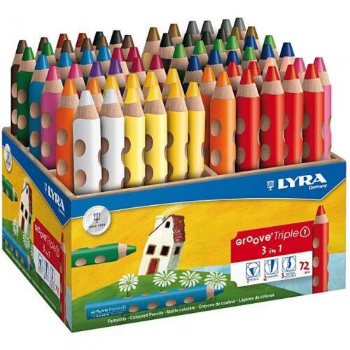Lyra buntstifte 3 in 1 Nut 72 Stück mehrfarbig