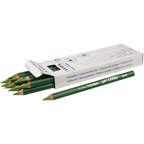 Lyra Super Ferby Farbstifte grün 12 Stück