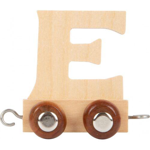 Small Foot eisenbahnwagen Buchstabe E Holz beige 5 x 3,5 x 6 cm
