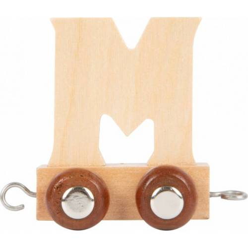 Small Foot eisenbahnwagen Buchstabe M Holz beige 5 x 3,5 x 6 cm