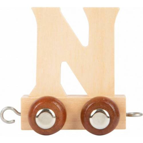 Small Foot eisenbahnwagen Buchstabe N Holz beige 5 x 3,5 x 6 cm