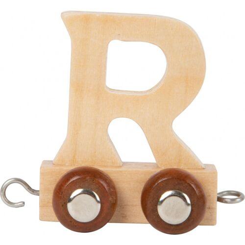Small Foot eisenbahnwagen Buchstabe R Holz beige 5 x 3,5 x 6 cm