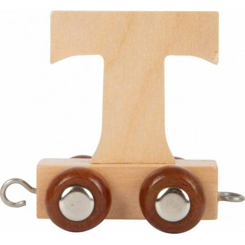 Small Foot eisenbahnwagen Buchstabe T Holz beige 5 x 3,5 x 6 cm