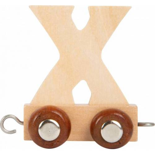 Small Foot eisenbahnwagen Buchstabe X Holz beige 5 x 3,5 x 6 cm