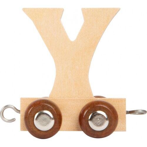 Small Foot eisenbahnwagen Buchstabe Y Holz beige 5 x 3,5 x 6 cm