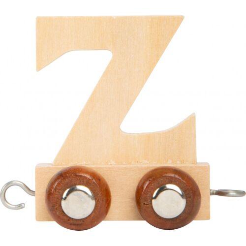 Small Foot eisenbahnwagen Buchstabe Z Holz beige 5 x 3,5 x 6 cm
