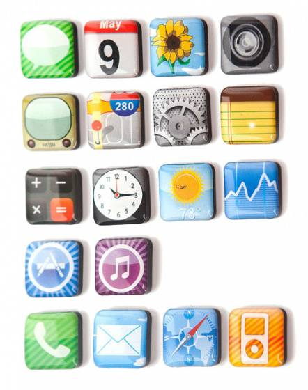 Balvi magnete Apps 2 x 2 cm 18 Stück