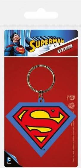 DC Comics schlüsselanhänger Superman junior 6,4 cm Gummi rot