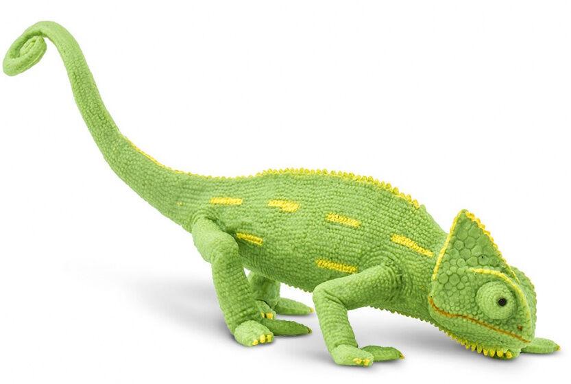 Safari spieltier Chamäleon 17 cm grün