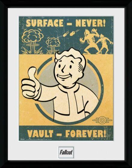 GB Eye poster im Rahmen Fallout 4 Vault Forever 30 x 40 cm