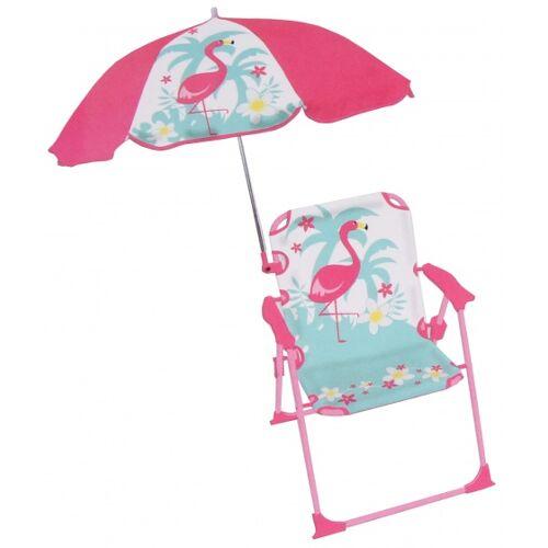 Jemini gartenstuhl mit Sonnenschirm Flamingo 39x39x53 cm rosa/mint
