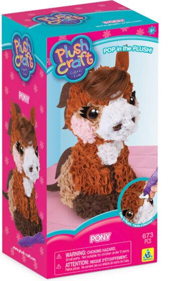 Plush Craft bastelset Pony 25,5 cm Textil braun 673 Stück
