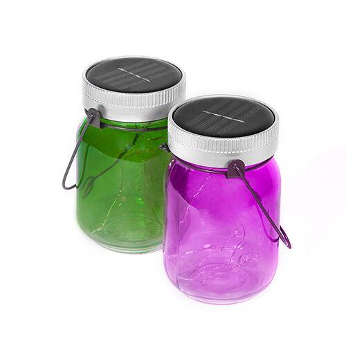 thumbsUp! leuchttöpfe Fairies 14 cm Glas violett/grün