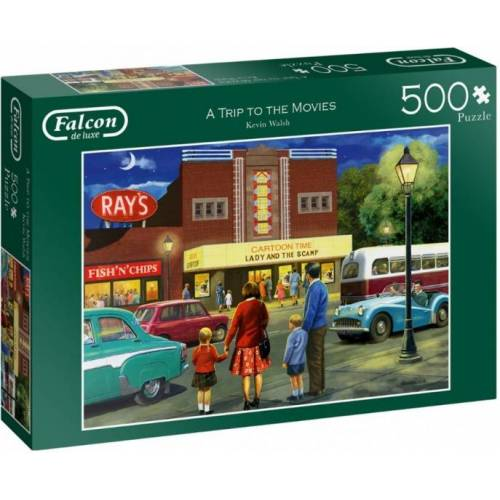 Falcon puzzle A Trip to the Movies 500 Teile