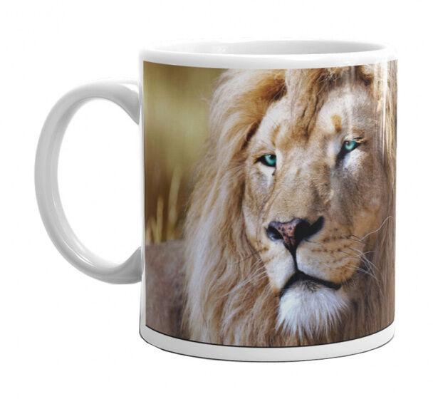 Animal Planet becher Lion junior 325 ml Keramik weiß/braun
