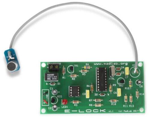MadLab bausatz elektronisches Zahlenschloss 10 x 5 cm grün/grau