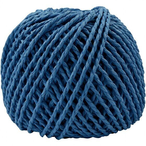 Creotime garn Weaving Paper 3 mm blau 40 Meter pro Birne