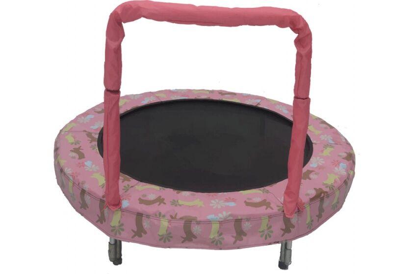 Jumpking trampolin Mini BouncerRosa Hase 121 cm rosa