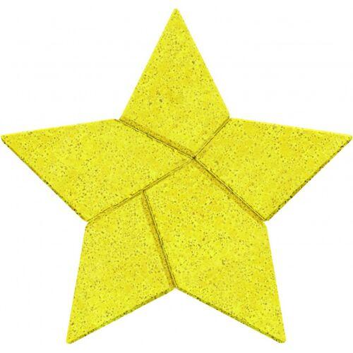 Anker rätselpuzzle Ster 7,5 cm Stein gelb 5 teilig