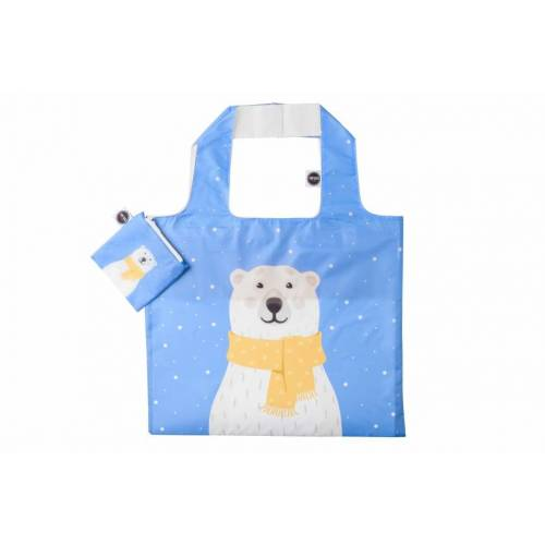 Any Bags faltbarer Shopper Eisbär 48 cm blau