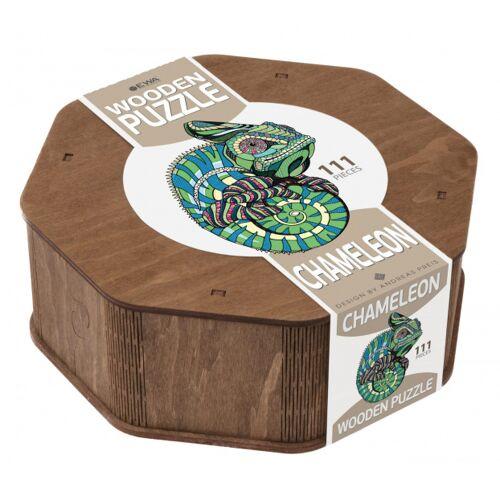 ART Bizniz puzzle Chamäleon 37 x 28 cm Holz grün 111 Stück