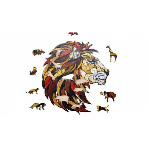 ECO Wood Art stichsäge Löwe 31 x 28 x 0,5 cm Holz braun 100 Teile
