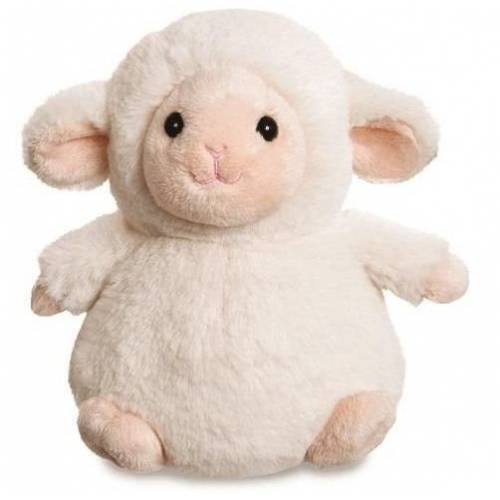 Aurora stofftier Cuddle Pals Lamm 18 cm Plüsch weiß