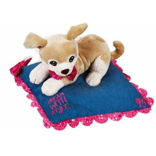 Barbie plüschhundekissen Junior 26 x 30 cm Plüsch braun/blau